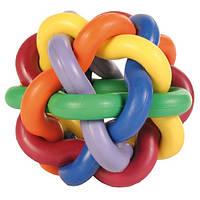Trixie (Трикси) Мяч плетеный каучук - игрушка для собак, 7см