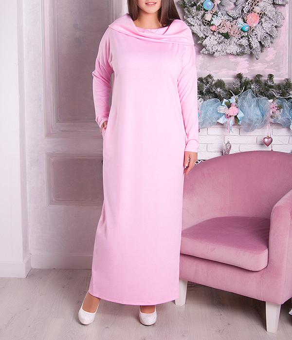 """Женское платье в пол больших размеров """"Фэйлин"""" до 70"""