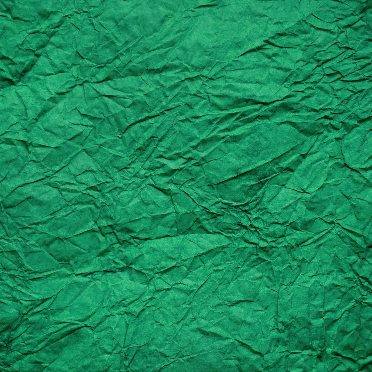 Бумага упаковочная жатая темно-зеленая