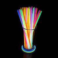 Светящиеся палочки неоновые SoFun glow stick ассорти 100 штук