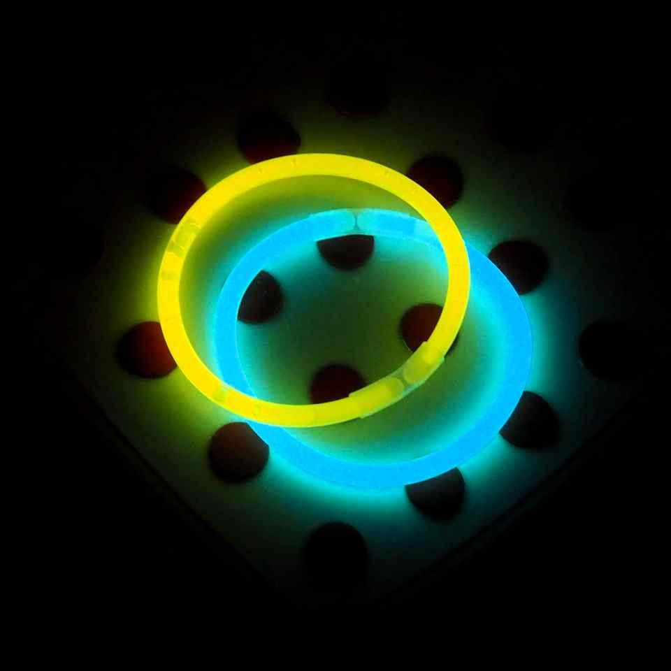 Неоновые браслеты, (50 шт) светящиеся браслеты, light stick, glow stick, 50 штук