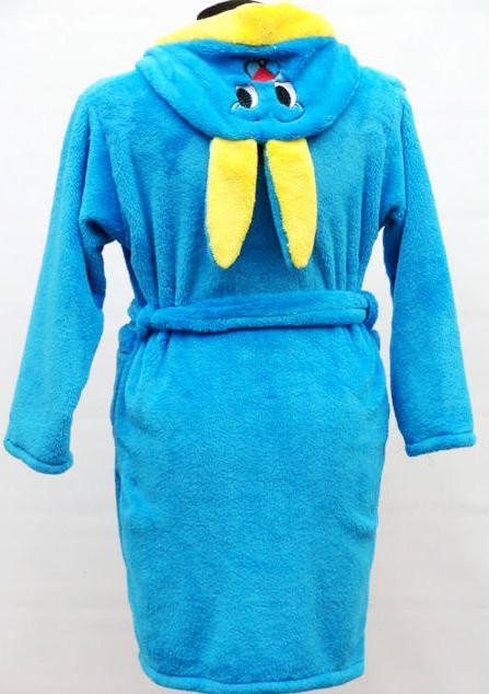 Махровый детский халат для дома Зайчик хорошего качества