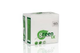 Салфетки белые в прозрачной упаковке с рисунком, в упаковке  100 шт., 24х24 см. 100% целлюлоза
