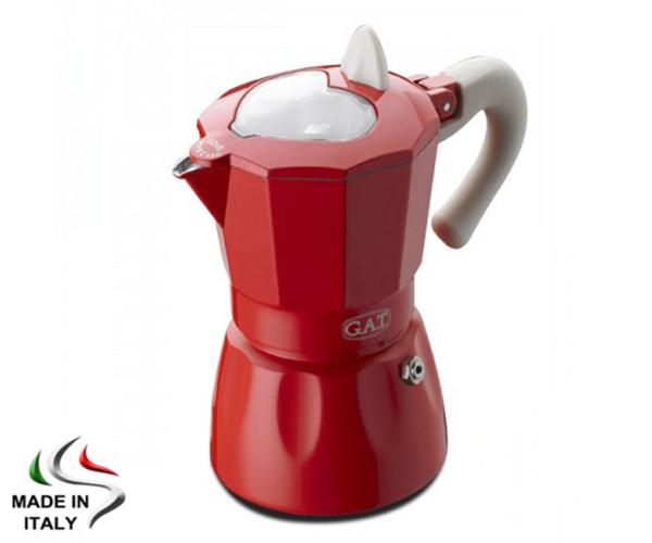 Гейзерна кавоварка GAT ROSSANA 0.15 л, на 3 чашки (801)