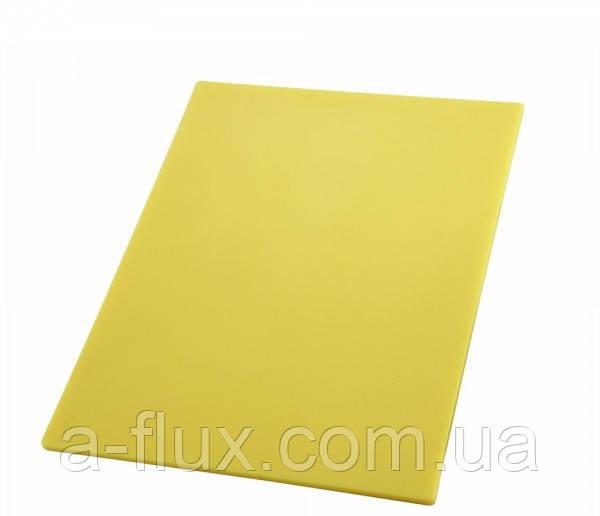 Доска разделочная пластиковая желтая 450*300*13 мм