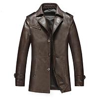 Мужская кожаная куртка. Модель 2019, фото 1