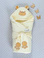 Теплый конверт для новорожденного Мишутка