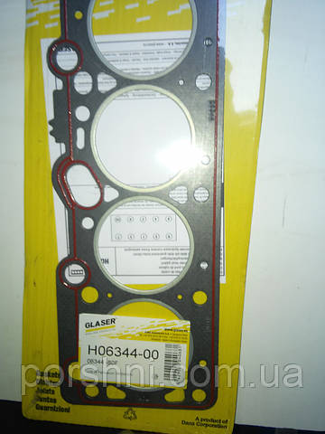 Прокладка  головки Ford  Escort   1,4 CVH ( 77,24 ) GLASER. 06344-00
