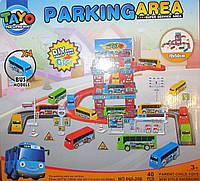 Паркинг Тайо, 3 этажа, 4 автобуса