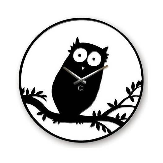 Часы На Стену (35смх35см) Owl-Сова [Акрил, Открытые]