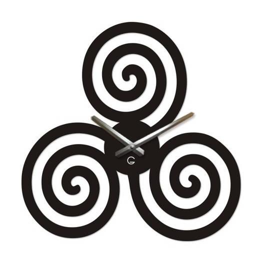 Большие Часы На Стену (49смх49см) Infinity Черные [Акрил, Открытые]