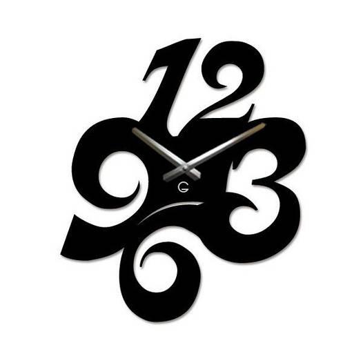 Дизайнерские настенные часы Glozis-A-028 (41х33см) Figures Черные