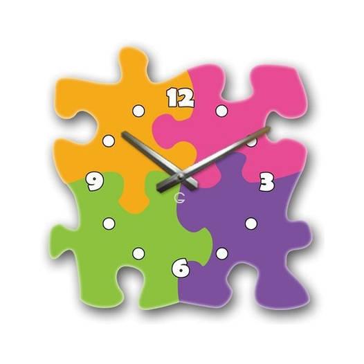 Настенные часы в детскую Glozis-C-048 (35х35см) Puzzle