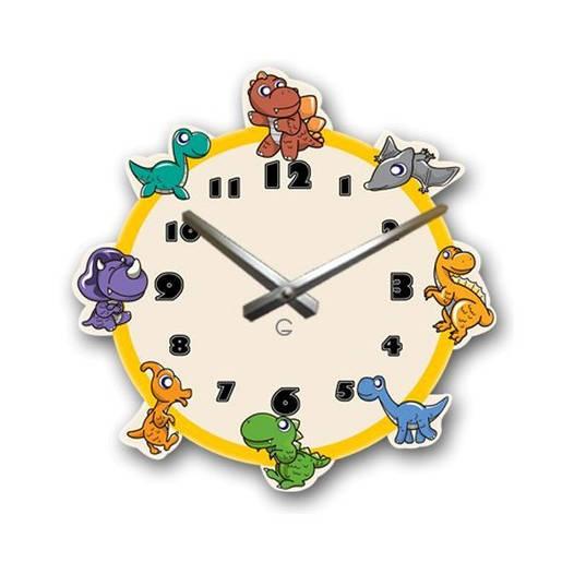 Часы На Стену (35смх35см) Dinosaurs [Акрил, Открытые]