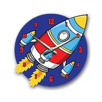 Настенные часы в детскую Glozis-C-068 (30х30см) Rocket