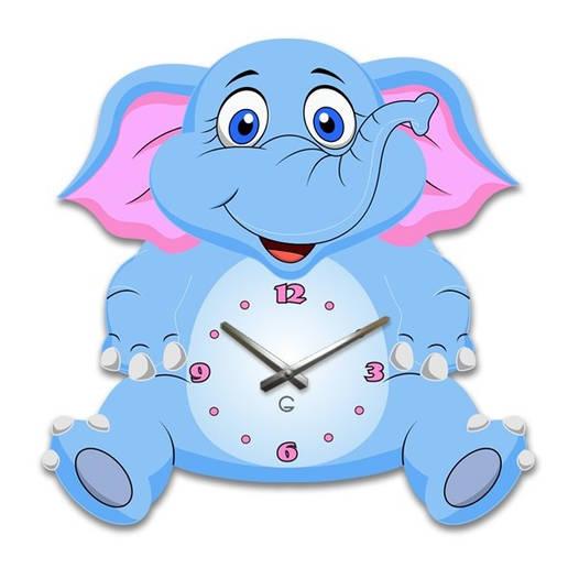 Часы На Стену (35смх35см) Elephant [Акрил, Открытые]