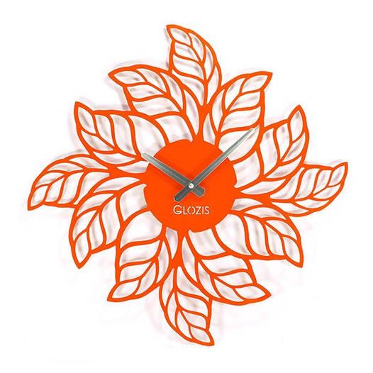 Большие Часы На Стену (50смх50см) Leaves [Металл, Открытые]