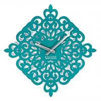 Дизайнерские часы металлические Glozis-B-011 Arab Dream Арабская Мечта голубые/бирюзовые (50х50см) [Металл, Открытые, Цвета]