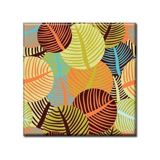 Картина на холсте (50х50 см) Leaves