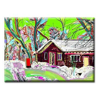 Картина на холсте (50х35 см) Village
