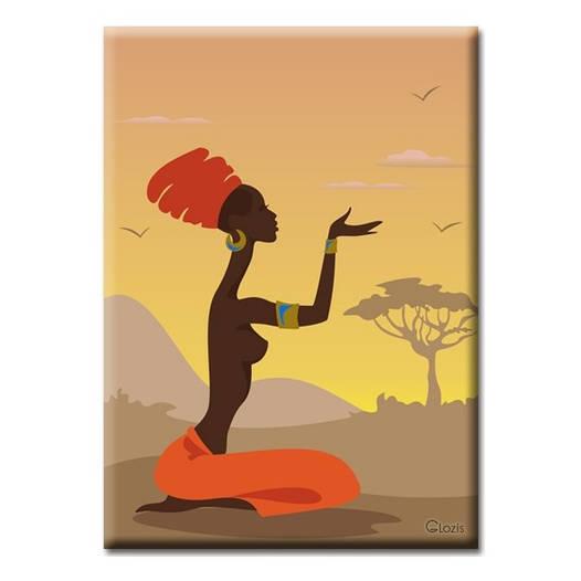 Картина на холсте (50х35 см) African girl