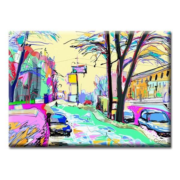 Картина на холсте (50х35 см) Street