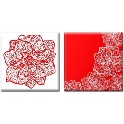 Модульная Картина на холсте (50х100 см) Orchid [2 модуля]
