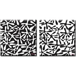 Модульная Картина на холсте (50х100 см) Traces [2 модуля]