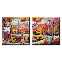 Модульная Картина на холсте (50х100 см) Exotic [2 модуля]