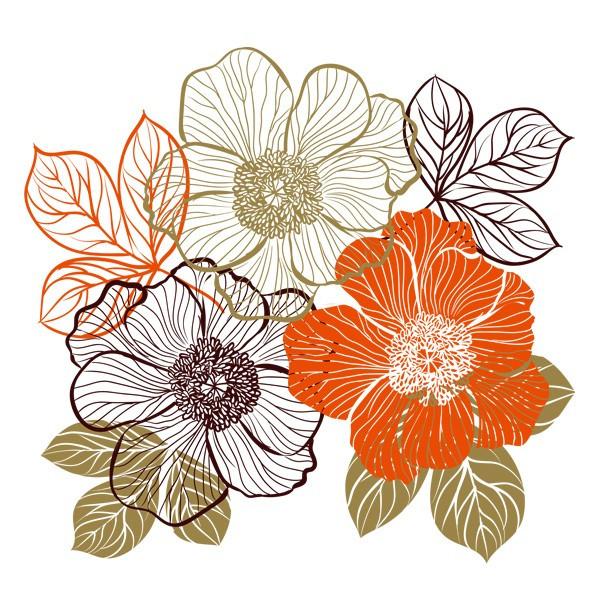 Наклейка интерьерная виниловая (100х100 см, варианты цветов) Bouquet