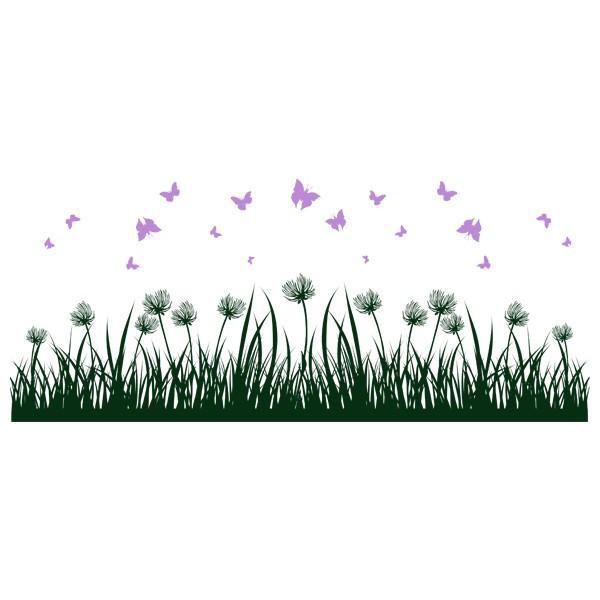 Наклейка интерьерная виниловая (190х80 см, варианты цветов) Grass
