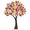 Наклейка интерьерная виниловая (150х200 см, варианты цветов) Autumn Tree