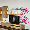 Наклейка интерьерная виниловая (50х70 см, варианты цветов) Orchid, фото 2