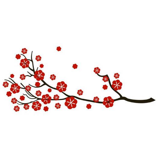 Наклейка интерьерная виниловая (140х60 см, варианты цветов) Sakura