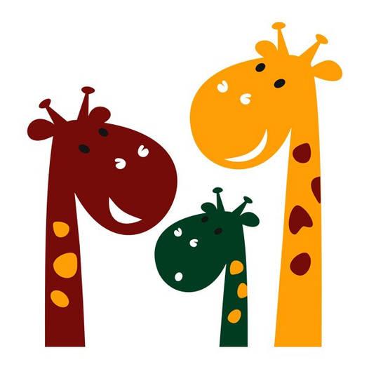 Наклейка интерьерная виниловая (60х70 см) Cute Giraffes