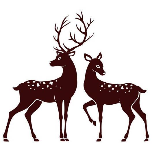 Наклейка интерьерная виниловая (160х150 см, варианты цветов) Deer