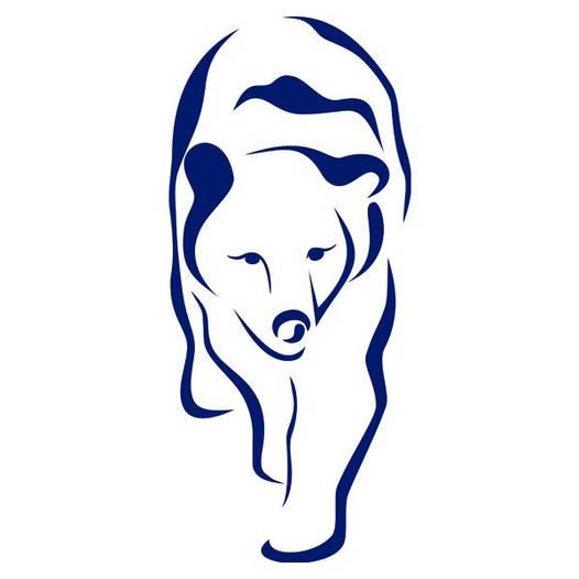 Наклейка интерьерная виниловая (50х100 см, варианты цветов) Polar Bear
