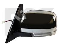 Зеркало левое электро с обогревом глянцевое складывающееся 10pin с указателем поворота с подсветкой Pajero 200