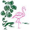 Наклейка интерьерная виниловая (100х100 см, варианты цветов) Flamingo