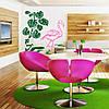 Наклейка интерьерная виниловая (100х100 см, варианты цветов) Flamingo, фото 2