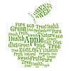 Наклейка интерьерная виниловая (40х50 см, варианты цветов) Apple