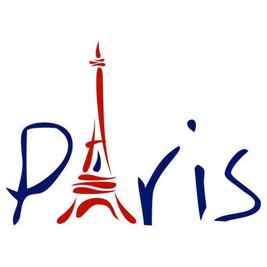 Наклейка интерьерная виниловая (100х70 см, варианты цветов) Paris