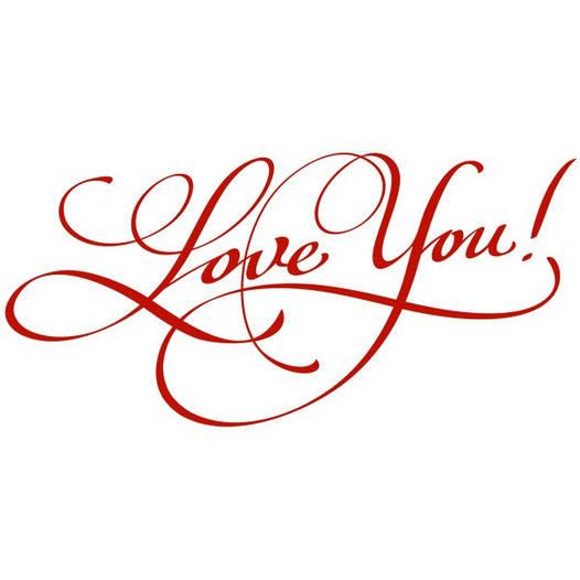 Наклейка интерьерная виниловая (100х50 см, варианты цветов) Love You