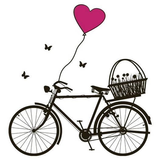 Наклейка интерьерная виниловая (130х140 см, варианты цветов) Bicycle