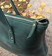 Женская сумка из кожи Lady Boss Babak 860077 зеленый, фото 3
