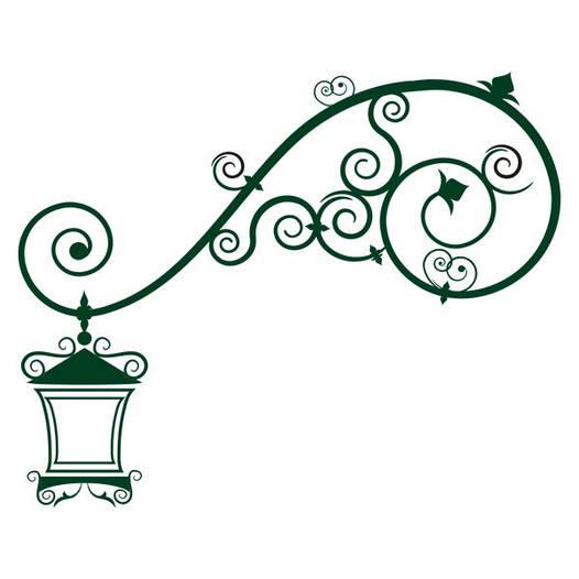 Наклейка интерьерная виниловая (60х50 см, варианты цветов) Lamp
