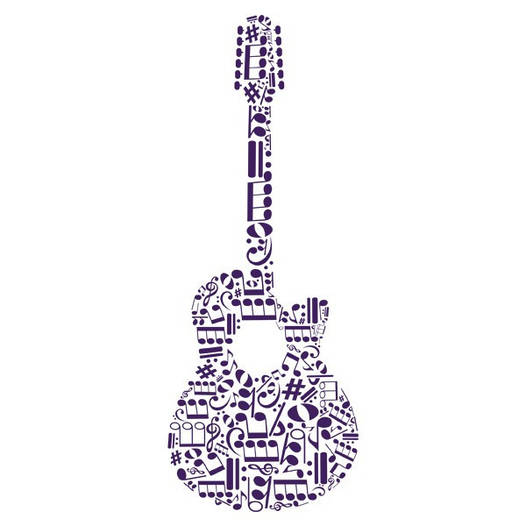 Наклейка интерьерная виниловая (40х100 см, варианты цветов) Guitar