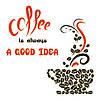 Наклейка интерьерная виниловая (50х50 см, варианты цветов) Coffee a Good Idea