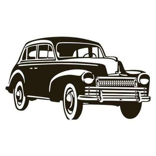 Наклейка интерьерная виниловая (170х100 см, варианты цветов) Car