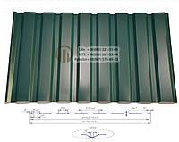 Профнастил С-20  0,35мм  RAL (цветной)